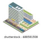 modern hotel isometric ... | Shutterstock .eps vector #688581508