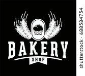 vintage retro bakery logo badge | Shutterstock .eps vector #688584754