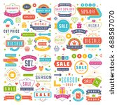 sale badges and tags design... | Shutterstock .eps vector #688587070