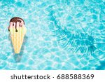 ice cream pool float  ring... | Shutterstock . vector #688588369