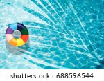 pool float  ring floating in a... | Shutterstock . vector #688596544