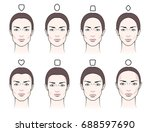 different types of proportions... | Shutterstock .eps vector #688597690