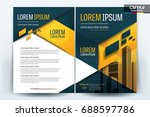 vector brochure layout  flyers... | Shutterstock .eps vector #688597786