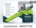 vector brochure layout  flyers... | Shutterstock .eps vector #688597798