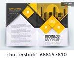 vector brochure layout  flyers... | Shutterstock .eps vector #688597810
