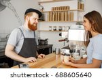 coffee business concept   young ... | Shutterstock . vector #688605640
