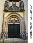 Small photo of The famous door at the All saint's Church where Martin Luther posted the ninety-five theses which sparked the fire of reformation, Wittenberg, Germany