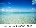 landscape and dream beach in... | Shutterstock . vector #688612810
