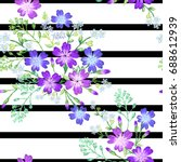 seamless pattern of beautiful... | Shutterstock .eps vector #688612939