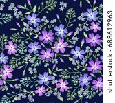 seamless pattern of beautiful... | Shutterstock .eps vector #688612963