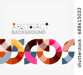 colorful rings on grey... | Shutterstock .eps vector #688615033