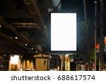 blank advertising panel on a... | Shutterstock . vector #688617574