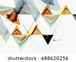 triangular low poly vector a4... | Shutterstock .eps vector #688620256