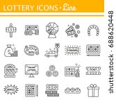 lottery and profit fortune... | Shutterstock .eps vector #688620448