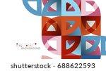 business presentation geometric ... | Shutterstock . vector #688622593