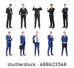 set of business people isolated ... | Shutterstock . vector #688623568