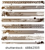 tire track vector illustration | Shutterstock .eps vector #68862505