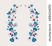 beautiful blooming flower... | Shutterstock .eps vector #688626850