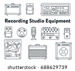 equipment for sound recording... | Shutterstock .eps vector #688629739