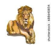 lion  tiger  cat  king of... | Shutterstock .eps vector #688640854