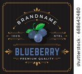 colorful blueberry packaging... | Shutterstock .eps vector #688642480