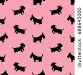 seamless pattern with black...   Shutterstock .eps vector #688645000