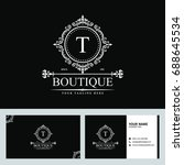 luxury logo template in vector... | Shutterstock .eps vector #688645534
