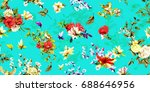 wide seamless background... | Shutterstock .eps vector #688646956