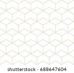 seamless geometric line grid... | Shutterstock .eps vector #688647604