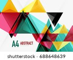triangular low poly a4 size... | Shutterstock . vector #688648639