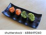 sushi rice mold wasabi japanese ... | Shutterstock . vector #688649260