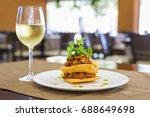 mexican chicken taco nachos and ... | Shutterstock . vector #688649698