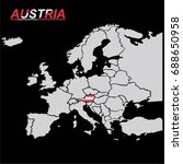 europe map with austria vector | Shutterstock .eps vector #688650958