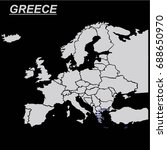 europe map with greece vector | Shutterstock .eps vector #688650970