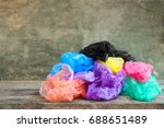 different plastic bags on... | Shutterstock . vector #688651489