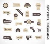 vector stickers  price tag ... | Shutterstock .eps vector #688652059