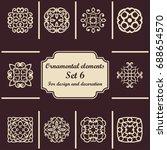 ornamental elements set.... | Shutterstock .eps vector #688654570