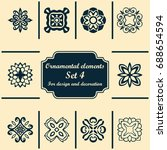 ornamental elements set.... | Shutterstock .eps vector #688654594
