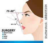 nose beauty surgery  ... | Shutterstock .eps vector #688655104