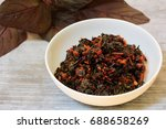 red spinach coconut stir fry | Shutterstock . vector #688658269