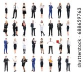 set of business people isolated ... | Shutterstock . vector #688659763