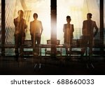 group of business partner... | Shutterstock . vector #688660033