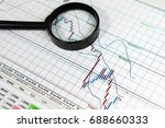 financial analytics and graphs. ... | Shutterstock . vector #688660333