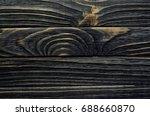 old  weather worn wood board...   Shutterstock . vector #688660870