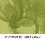monochrome abstract background. ... | Shutterstock . vector #688662520