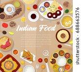 indian cuisine menu template...   Shutterstock .eps vector #688663576