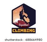 modern mountain and rock... | Shutterstock .eps vector #688664980