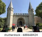 topkapi palace door  istanbul ...   Shutterstock . vector #688668424