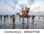 karachi clifton beach  karachi  ... | Shutterstock . vector #688669768