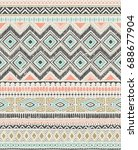 retro color tribal vector... | Shutterstock .eps vector #688677904
